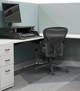 Ergonomic workstation sit-stand Transfer Enterprises