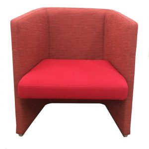 keilhauer talk low-back tub chair red