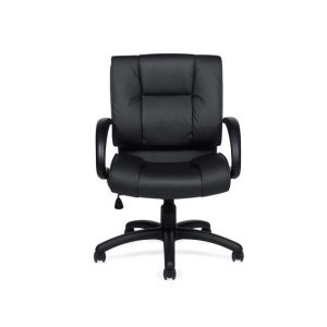 luxhide mid-back leather chair
