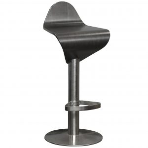 allermuir bar stool espresso wood and chrome base