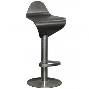 allermuir bar stool espresso wood and chrome base