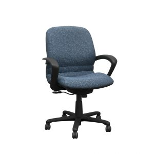 steelcase rally blue task chair