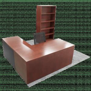 steelcasewoodldeskmahogany