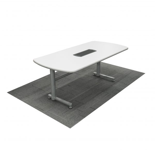 steelcase laminate training table with port cover