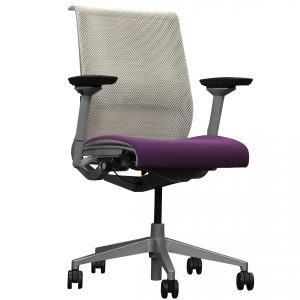 steelcase think ergonomic task chair purple seat