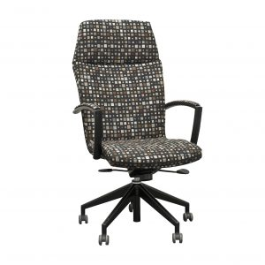 harter geometric print high-back chair