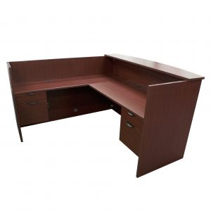 candex reception unit laminate mahogany