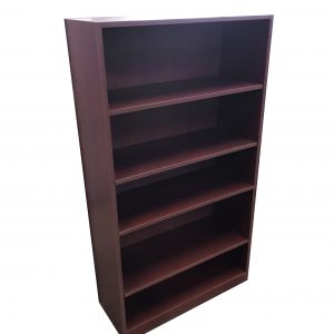 mahogany laminate bookcases 5 shelves