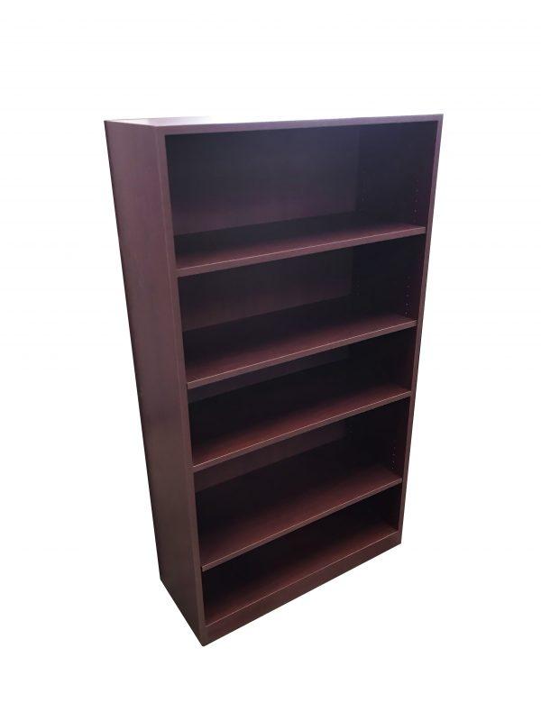mahogany laminate bookcases 5 shelves