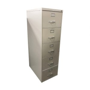 steelcase 5-drawer legal-sized vertical filing cabinet
