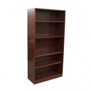 contemporary 5 shelf wood bookcase