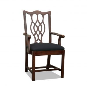 wood side chair in chippendale
