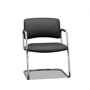 steelcase 421 side chair black vinyl upholstery